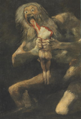 A representation of Saturn by Francisco de Goya