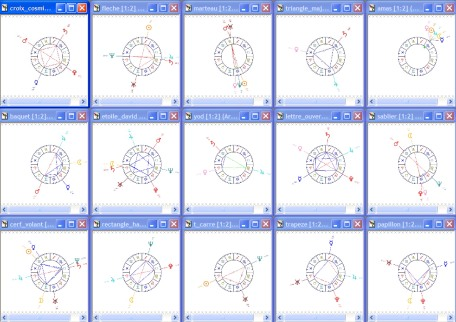 The 15 major and minor figures with composed aspects. The new added Boomerang is the 16th figure.