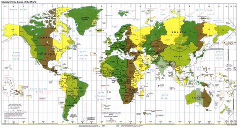 The 24 time zones