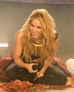Shakira, a famous Aquarius woman