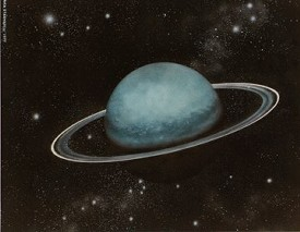Uranus is big, and like Saturn, he has rings, which is not widely known. Uranus' influence is considerable when he reaches his mid-return, around the age of 38 � 43, depending on the natal chart. There is a need to change, to transform our environment, and to transform ourselves.
